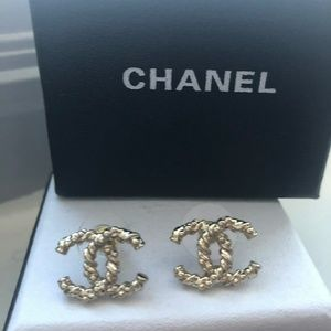 Authentic Vintage Chanel Gold Earrings